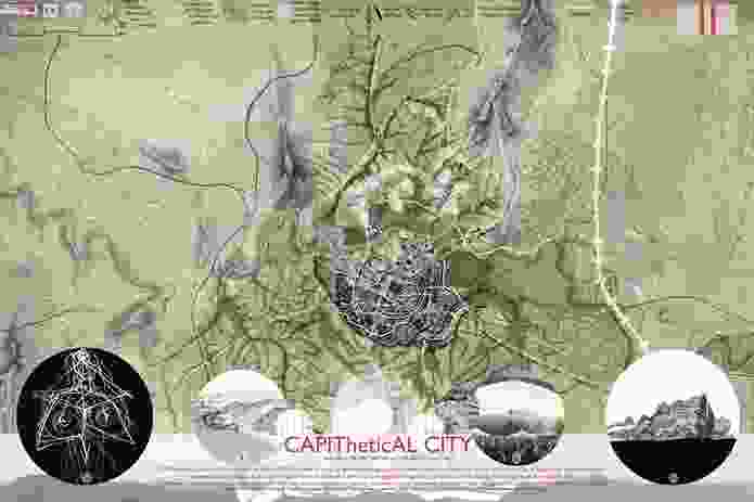 Second Prize: Sedimentary City by Brit Andresen and Mara Francis (Brisbane).
