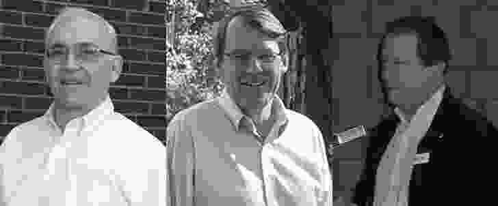 Speakers (L–R): Emeritus Professor Paul Kruty, the Griffin Society of America; Professor James Weirick, president of the Griffin Society; Professor Dr Karl F. Fischer, UNSW.