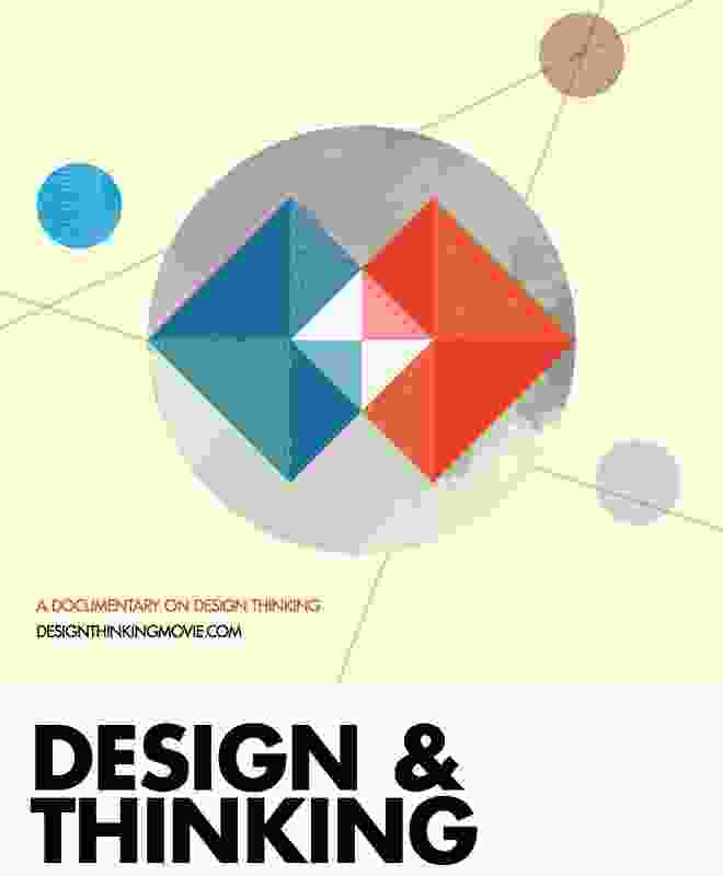 The poster for the documentary Design & Thinking.