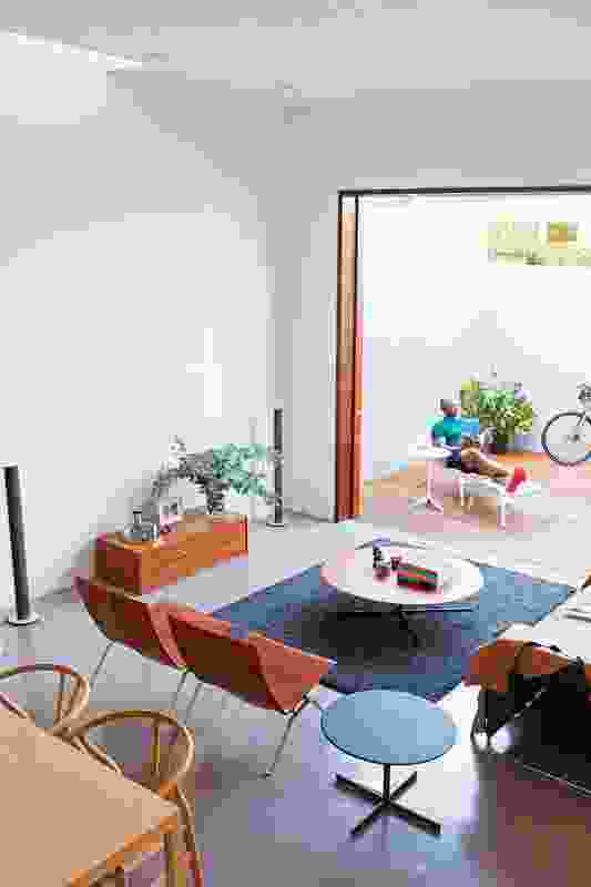 Connecting previously disjointed interior and exterior spaces.