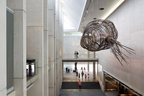 A view east in the foyer of the new extension to the NGA.