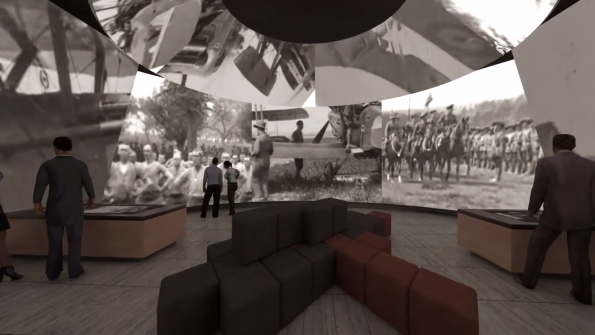 The immersive gallery at the heart of the proposed centre.