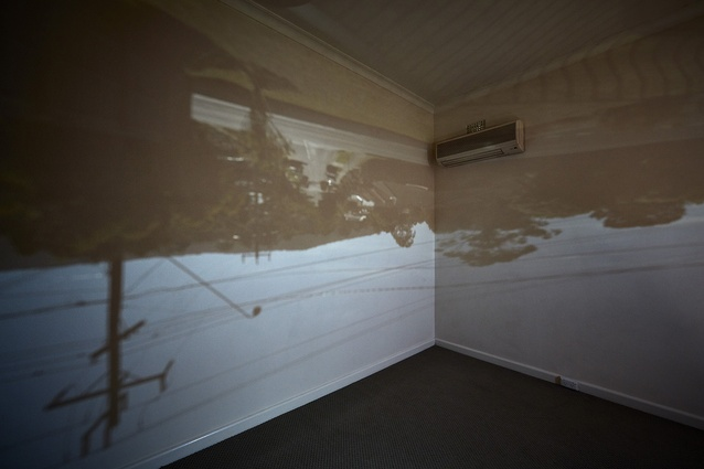 A camera obscura of the exterior streetscape inside <i>Untitled House</i> by Roh Singh, Larry Parkinson and Morganna Magee.