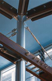 "James Cook Museum.Detail of the ""mast columns"". Image: Patrick Bingham-Hall"
