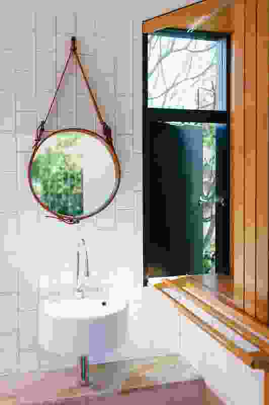 The virtuosity of material and craft is captured in the bathroom. Image: Natalie McComas.