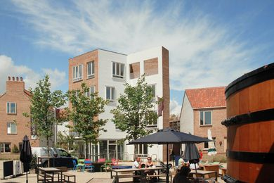 Ash Sakula Architects' Tibby's Triangle, Southwold, is built around a new market square.