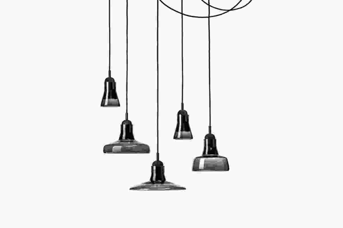 Shadow Pendants by Dan Yeffet and Lucie Koldova, in transparent smokey grey.