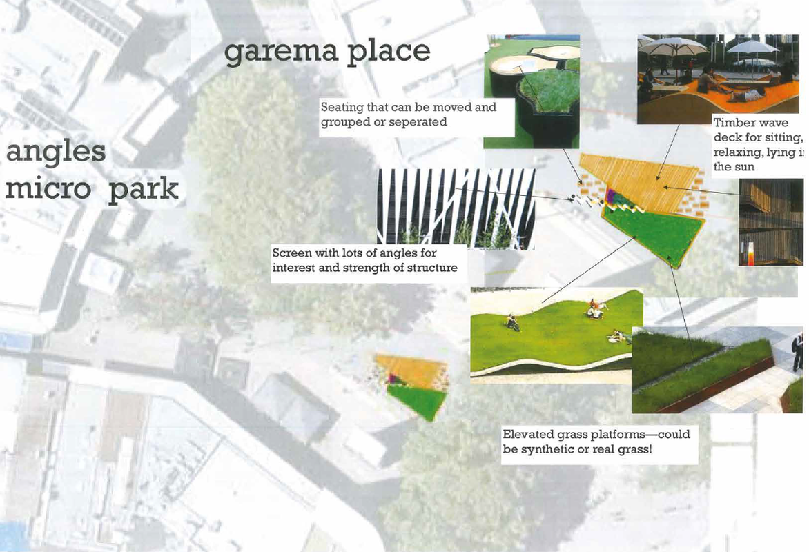 """Angles"" submission to the Canberra micro park design competition."