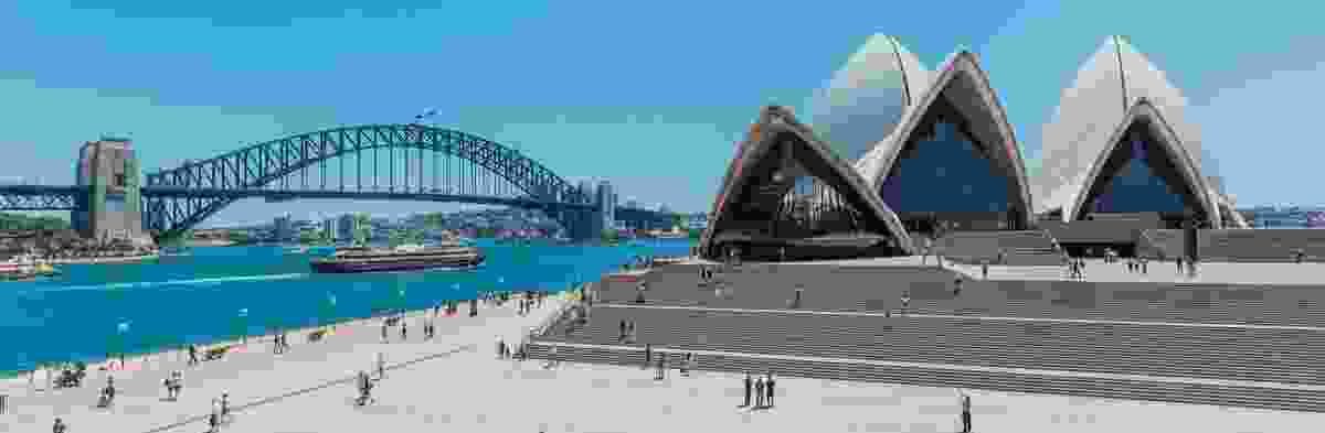Sydney Opera House and Sydney Harbour Bridge.