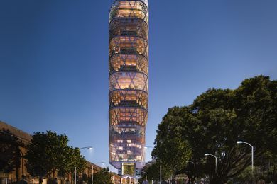Atlassian's Sydney headquarters tower by Shop Architects and BVN.