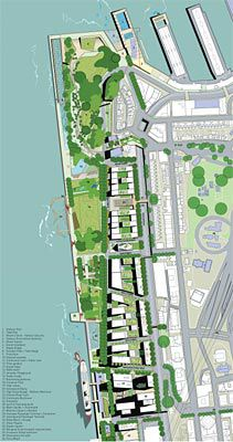 A selection of images from the winning scheme by Hill Thalis, Paul Berkemeier Architects and Jane Irwin Landscape Architecture. Plan.