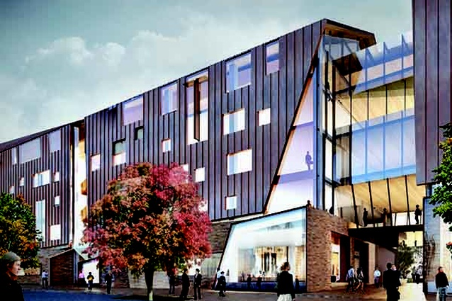 The proposed Ballarat GovHub by John Wardle Architects will be clad in metal.