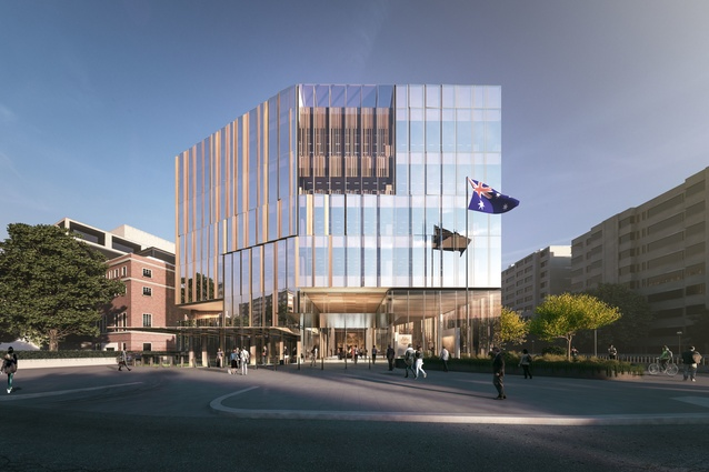 The proposed Australian embassy building in Washington DC, USA, by Bates Smart.