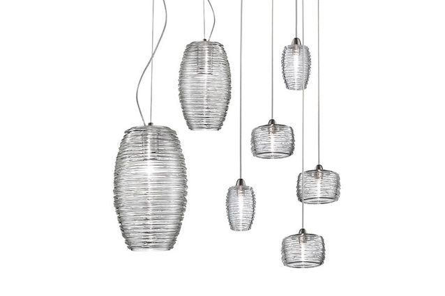 Vistosi Damasco lead-free crystal pendant.