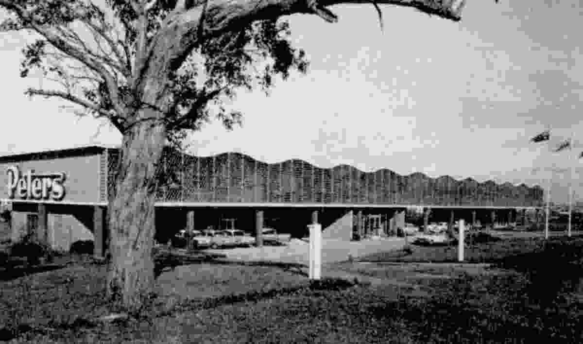 The Peters Ice Cream factory administration building designed by D. Graeme Lumsden.