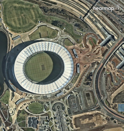 Perth Stadium by Hassell, Cox Architecture, and HKS Sport and Entertainment.