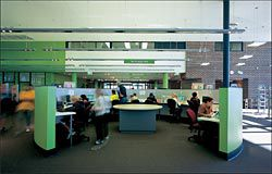 A computer hub within the main library space.Image: Tyrone Brannigan