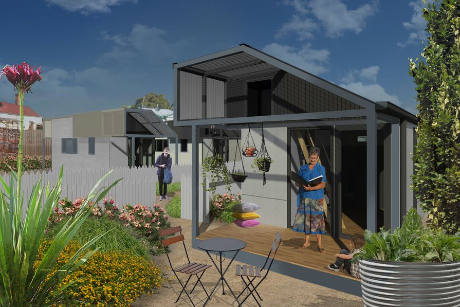 Harris Transportable Housing Project (VIC) by Hansen Partnership, Launch Housing, Schored Projects, Vicroads won the Best Planning Ideas – Small Project Award at the 2019 National Awards for Planning Excellence.