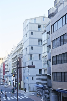 A new building in Okachimachi in Tokyo by Go Hasegawa and Associates explores the forgotten spaces, the gaps between buildings, which Hasegawa describes as a social space to explore.