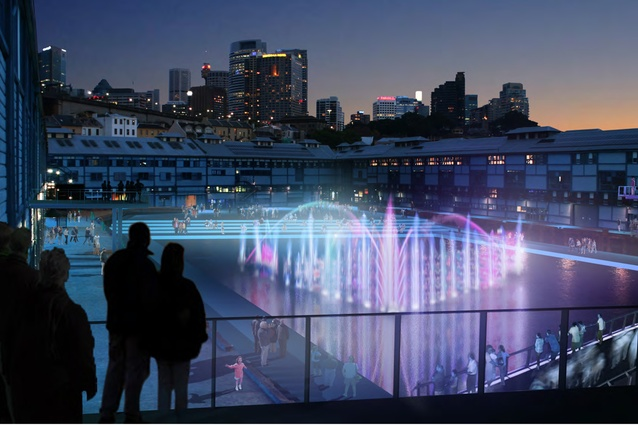 The proposed waterfront square will work in tandem with a floating stage.