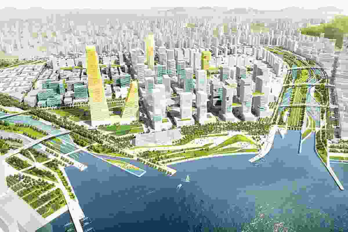 The master planned region offers waterfront, building diversity and cultural destinations.