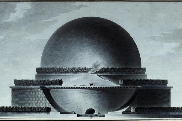 Étienne-Louis Boullée's Cenotaph for Isaac Newton.