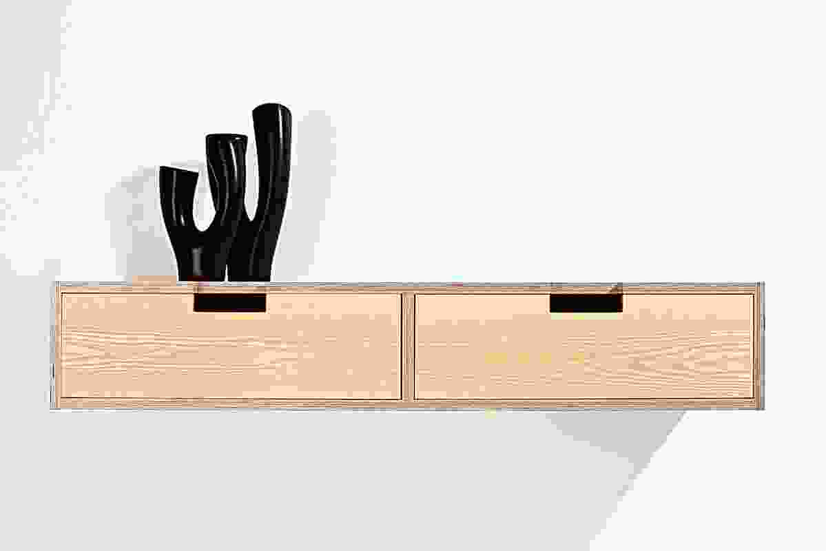 Wall-mounted sideboard by John and Coby.