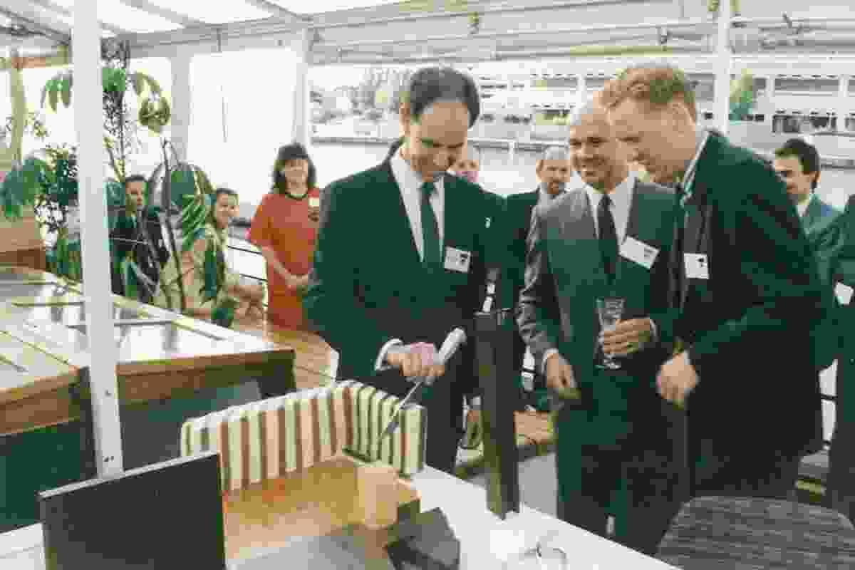 Steve Ashton, Ian McDougall and Howard Raggatt launch ARM Architecture (1988).