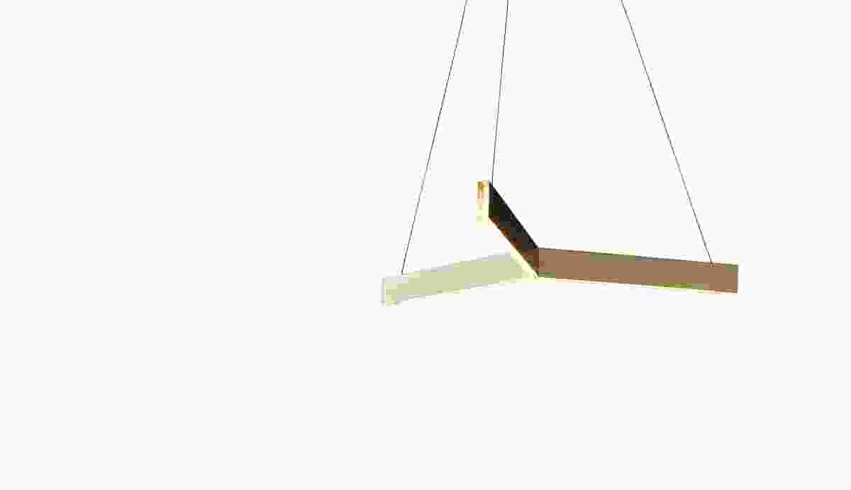 The Tri Pendant by Resident Studio has a classic geometric shape.