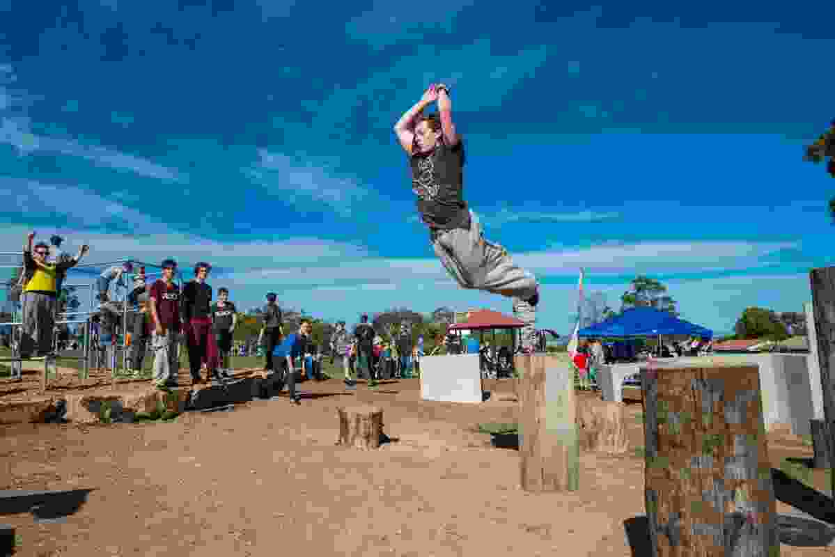 Parkour at Hackham West by City of Onkaparinga.