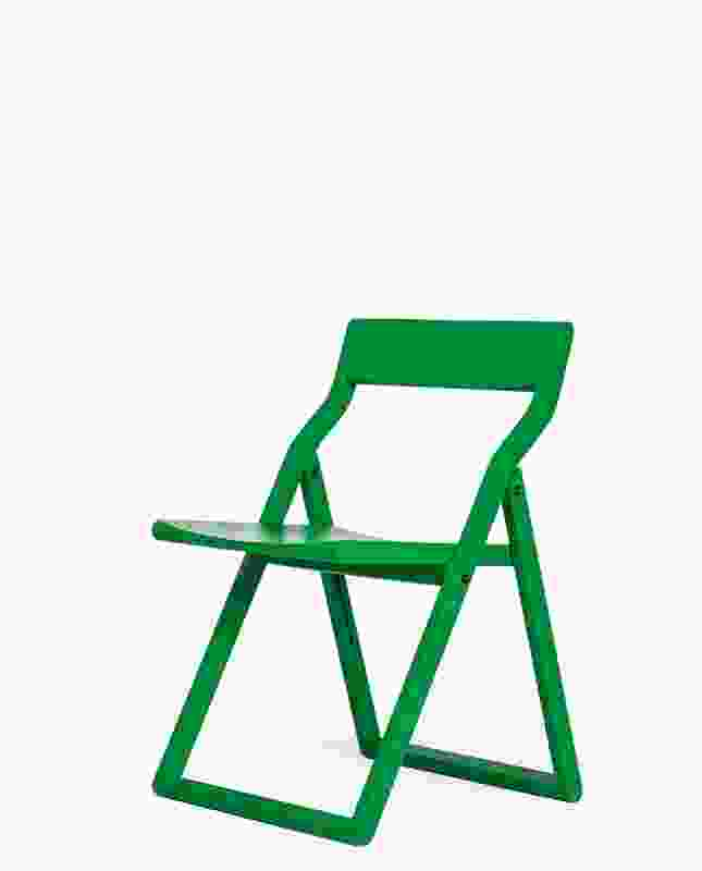 NOMI Storyteller collapsable chair by Tomek Archer in green.
