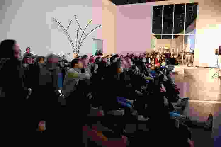 Late night platform at the Australian Centre for Contemporary Art (ACCA).