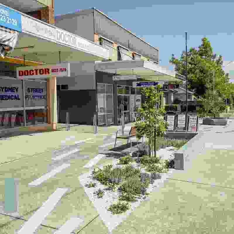 Sydney Street Shops by Sprout Landscape Architecture.