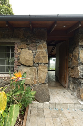 Four key elements – the original stone wall, internal masonry walls, expressed timber ceiling and concrete floor – were retained.