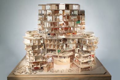 Scale model showing the interior; design by 