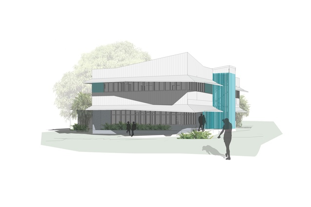 A new office for the Torres Strait Regional Authority, Land and Sea Management Unit by People Oriented Design.