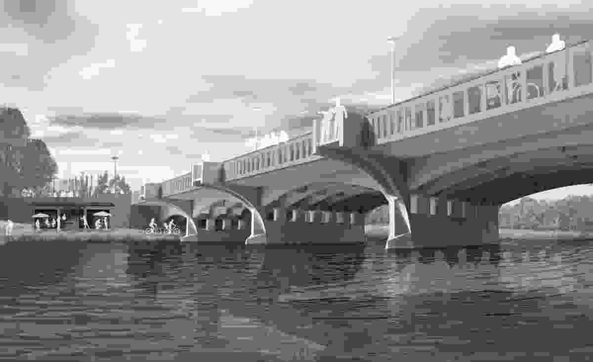 Design for Swan Street Bridge upgrade by Sally Draper Architects.
