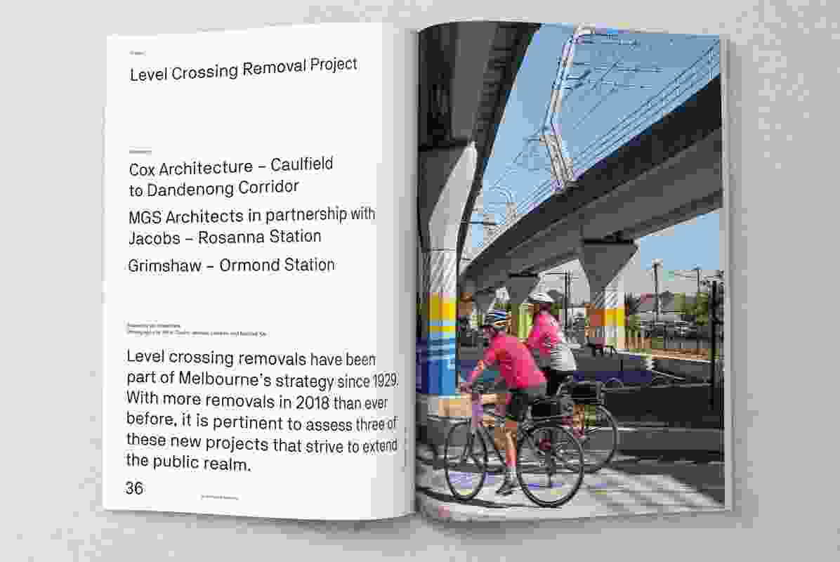 Level Crossing Removal Project. Cox Architecture, MGS Architects in partnership with Jacobs, and Grimshaw.