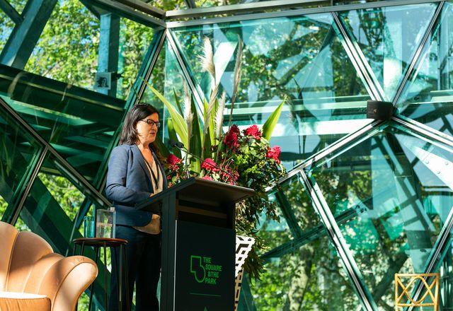 Festival keynote speaker Julia Czerniak spoke of a shift from designing for humans to designing for all living beings.