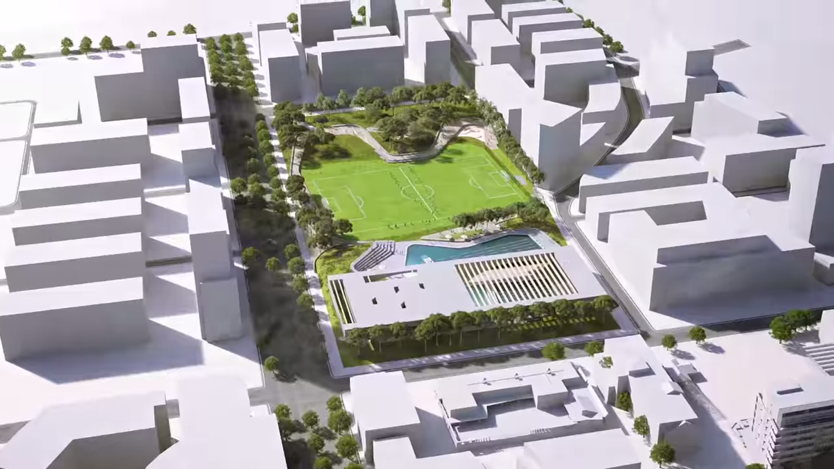 Aerial view of the proposed scheme.