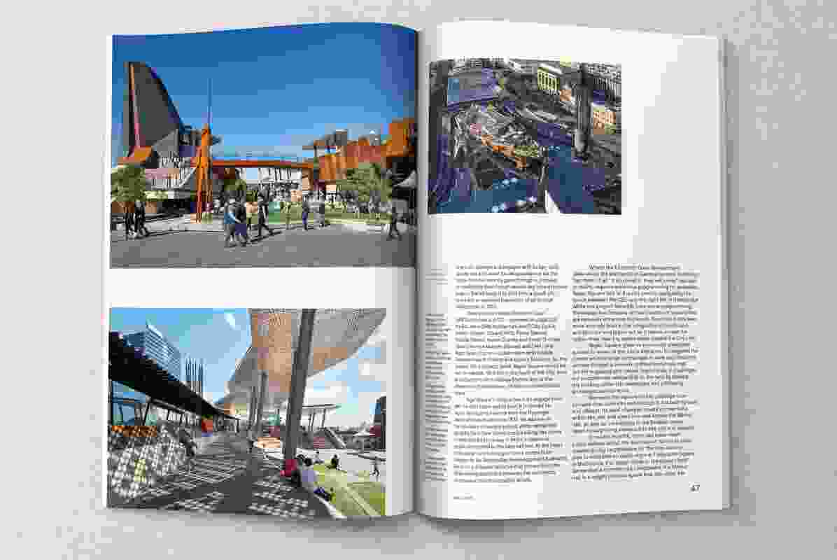 Yagan Square by Lyons in collaboration with Iredale Pedersen Hook Architects and Aspect Studios.