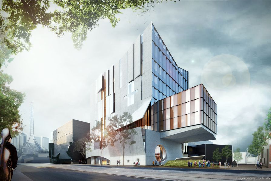 The proposed Melbourne Conservatorium of Music designed by John Wardle Architects.