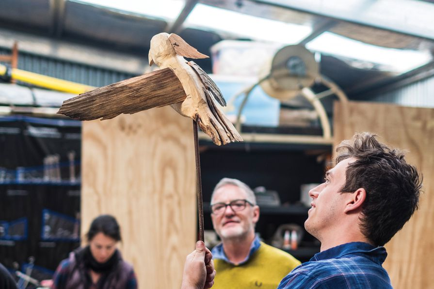 """""""Whittling Bird"""" at """"Waterview"""" Bruny Island, 2020."""