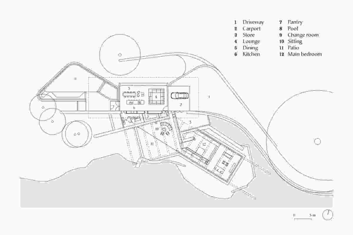 Plan of Lune de Sang Pavilion by CHROFI.