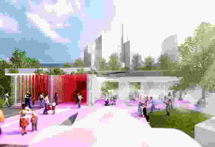 M@Studio's installation for the 2016 NGV Architecture Commission is inspired by the suburban car wash.