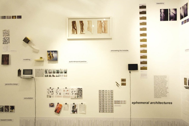 A collection of key works by the exhibitors is displayed in the first small room of the gallery.