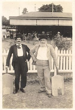 """Archival image from the City of Sydney collection, showing a """"dress up"""" at the pavilion during the 1950s."""