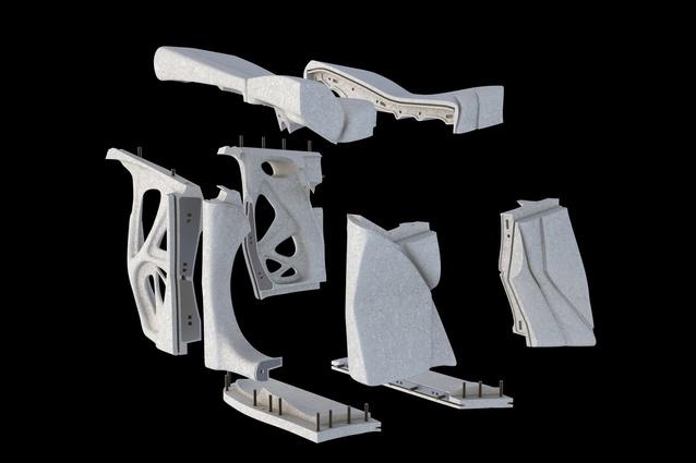 Exhibition model, exploded (Laing O'Rourke).