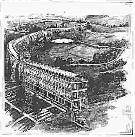 Sketch of Edgar Chambless' Roadtown, originally published in The Independent, 1910.