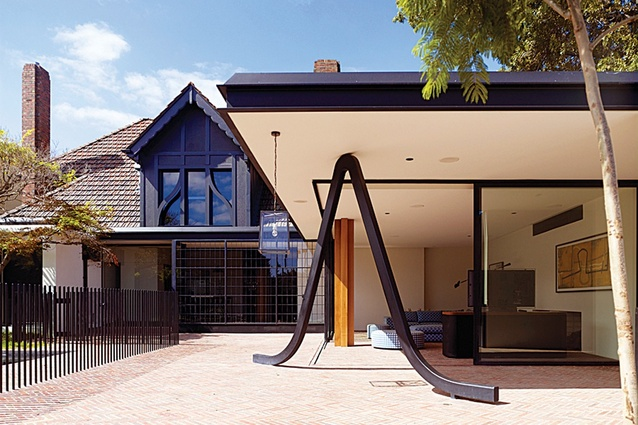 """The """"paperclip"""" at Stockbroker Tudor House by Kennedy Nolan Architects."""